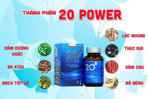 Thành phần thực phẩm chức năng 20 power