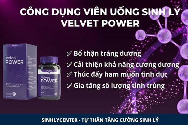 Công dụng của viên uống Velvet power