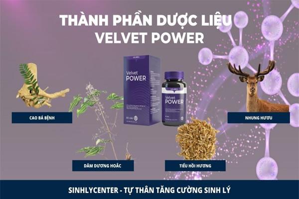 Thành phần Velvet power