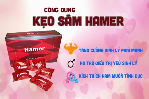 Kẹo sâm Hamer ông ngậm bà khen bồi bổ sức khỏe nam giới