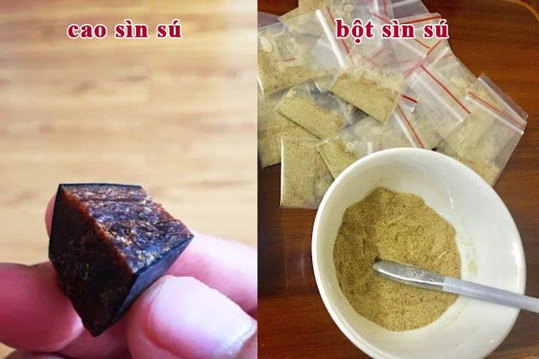 Hình ảnh cao sìn sú và bột sìn sú