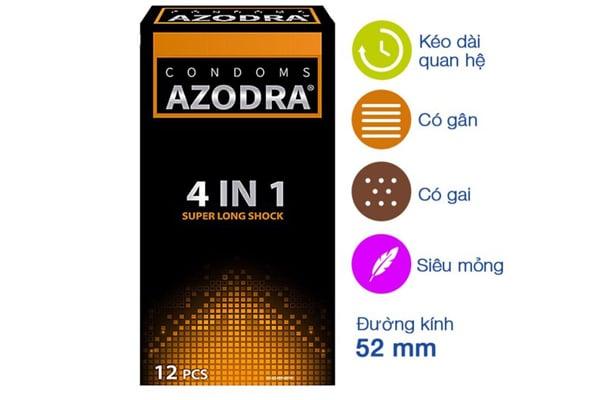 4 đặc điểm nổi bật của bao cao su Azodra