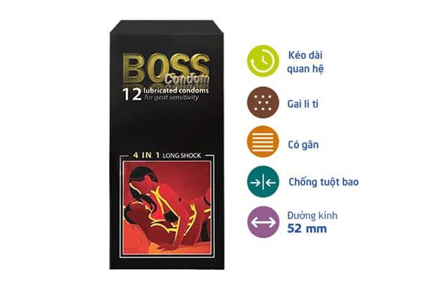 Đặc điểm nổi bật của bao cao su Boss