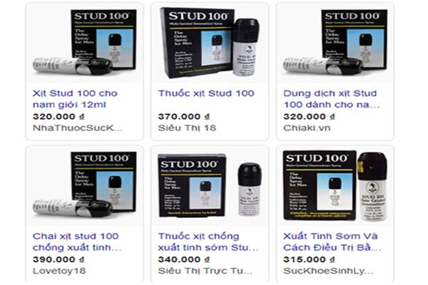 Giá thuốc xịt Stud 100 tham khảo trên thị trường