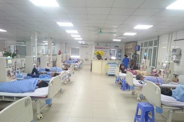 Giường bệnh tại bệnh viện Thanh Nhàn