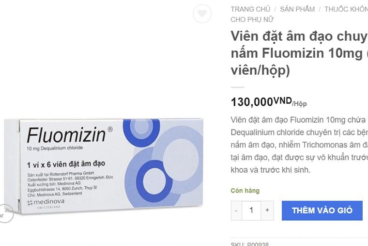 Giá thuốc Fluomizin 10mg