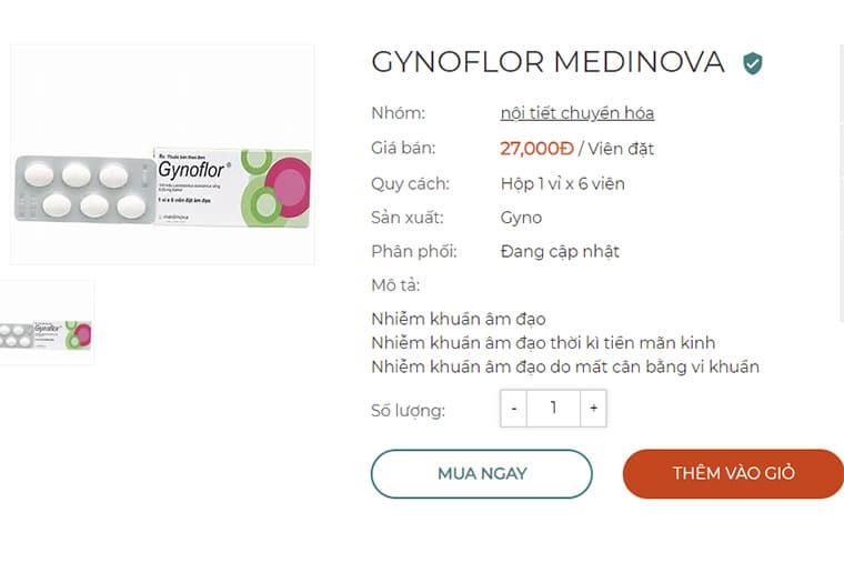 Giá thuốc Gynoflor 1 viên