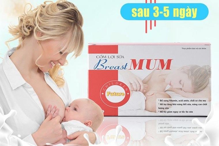 Breast MUM giúp mẹ có được nguồn sữa dồi dào cho bé yêu