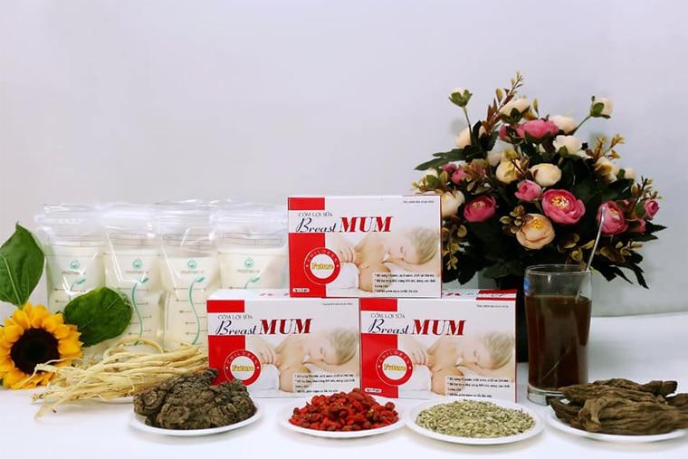 Các thành phần thảo dược có trong Cốm lợi sữa Breast MUM
