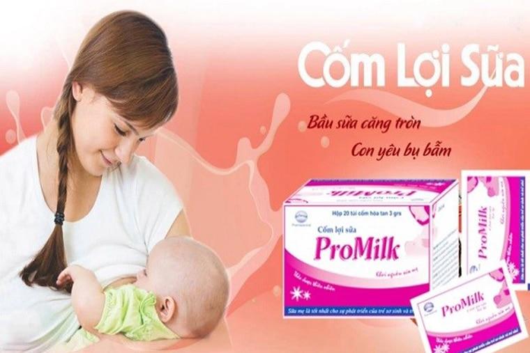 Promilk giúp trẻ có được nguồn sữa chất lượng cao từ mẹ