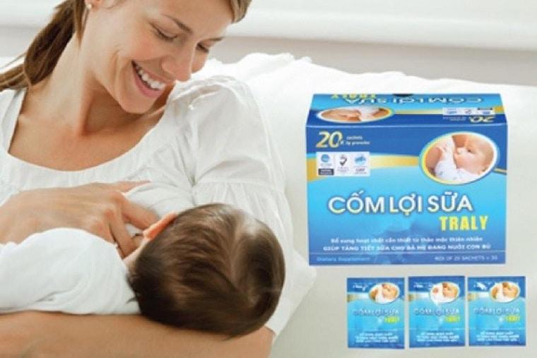 Cốm lợi sữa Traly giúp mẹ tìm lại được nguồn sữa cho con
