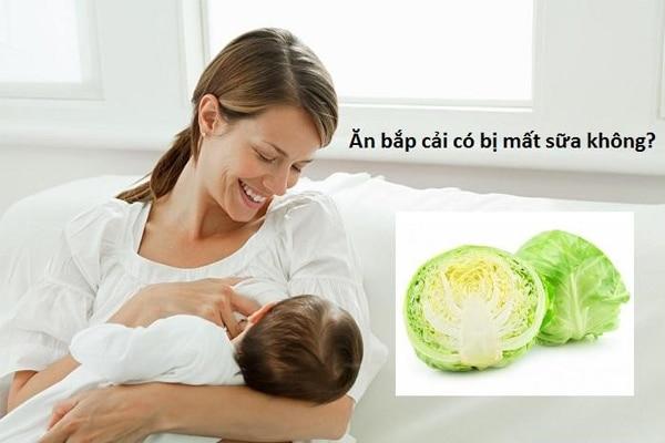 Ăn bắp cải có bị mất sữa không?