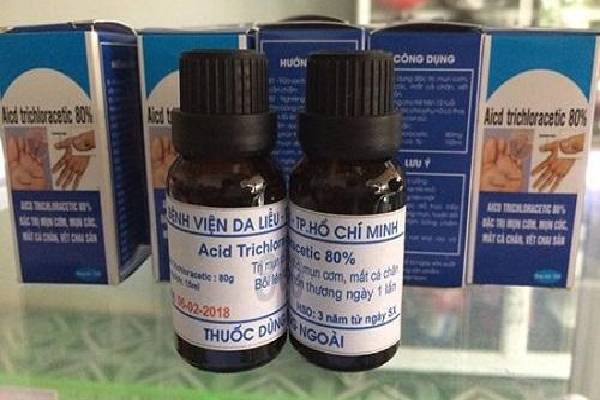 Thuốc acid Trichloracetic điều trị hiệu quả mụn cóc
