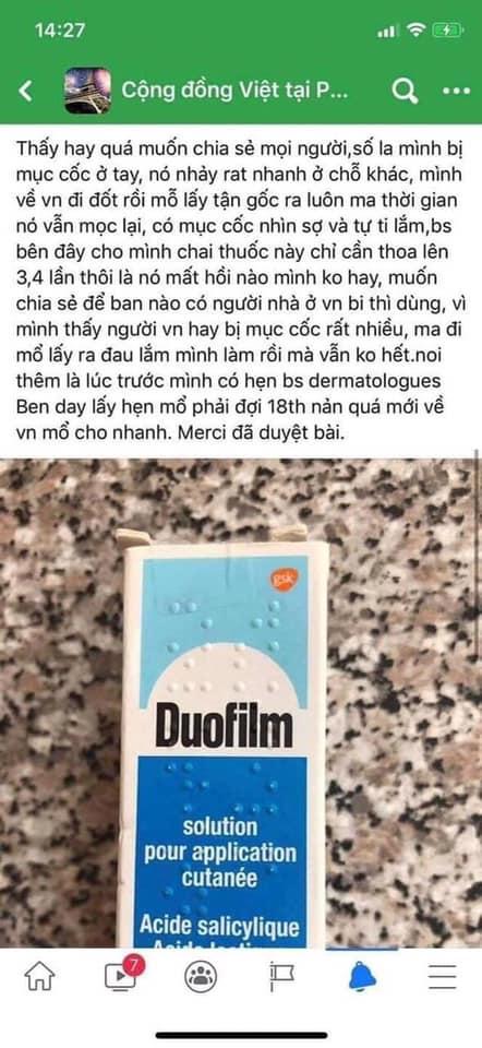 Chia sẻ của bệnh nhân trên group Cộng đồng người Việt tại Pháp