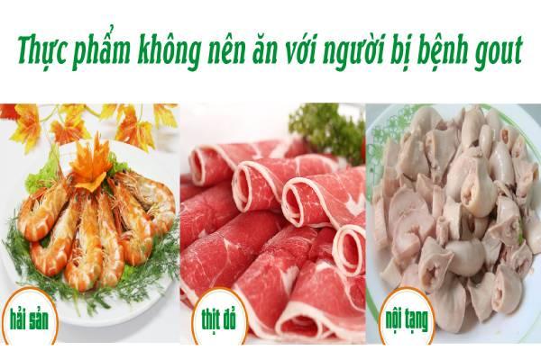 Những loại thực phẩm cần tránh đối với bệnh gout