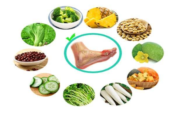 Rau xanh là thực phẩm rất tốt cho người bị gout