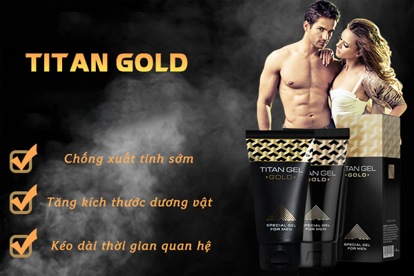Gel tăng kích thước dương vật Titan Gold