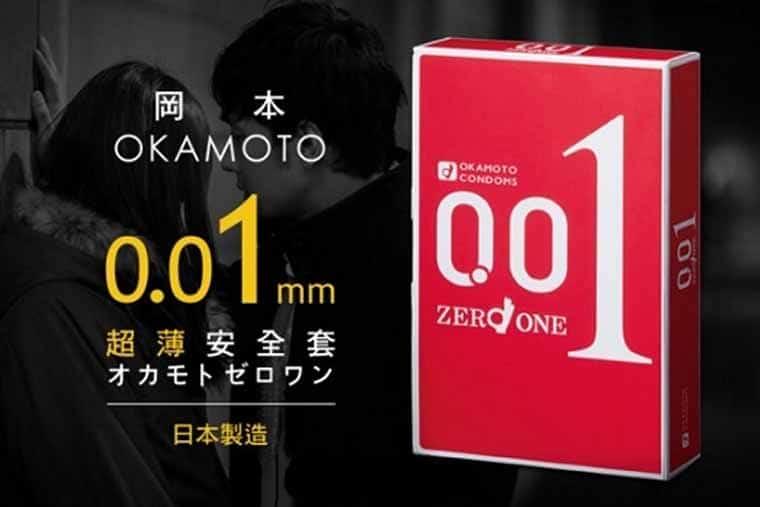 Bao cao su okamoto Zero 0,01mm