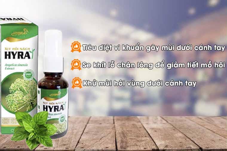 Công dụng thần kỳ của thuốc hôi nách Hyra