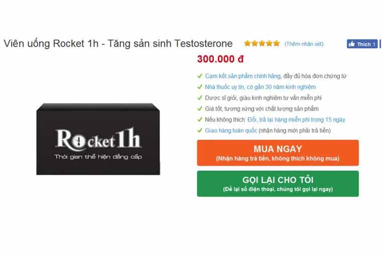 Giá bán rocket 1h