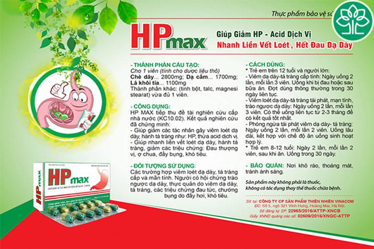 Hướng dẫn sử dụng viên uống HP max