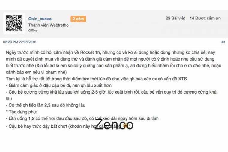 Review rocket 1h Webtretho