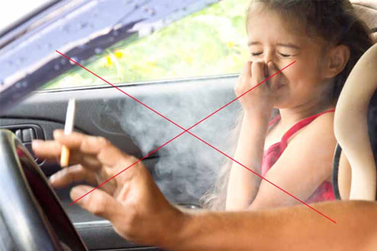 Tránh tránh tiếp xúc với khói thuốc lá