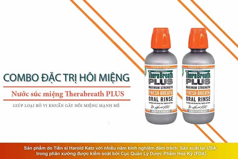 Thuốc trị hôi miệng của Mỹ Therabreath Plus