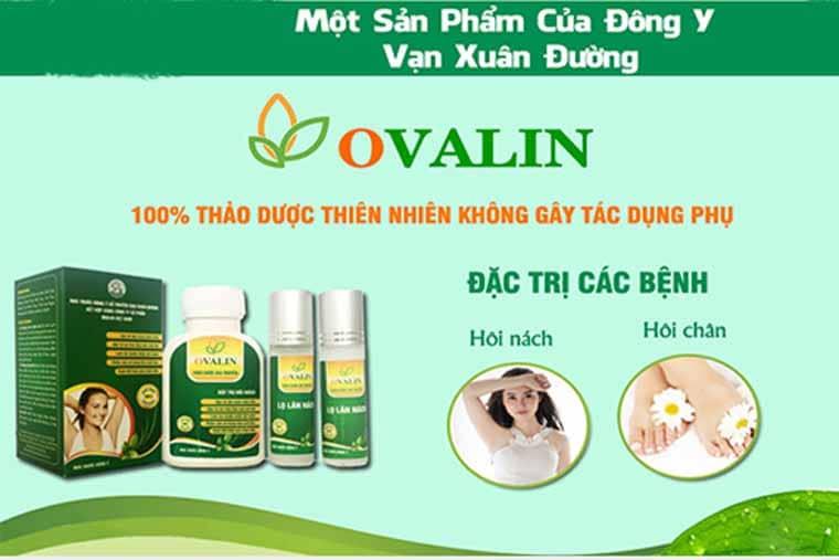 Thuốc trị hôi nách Ovalin