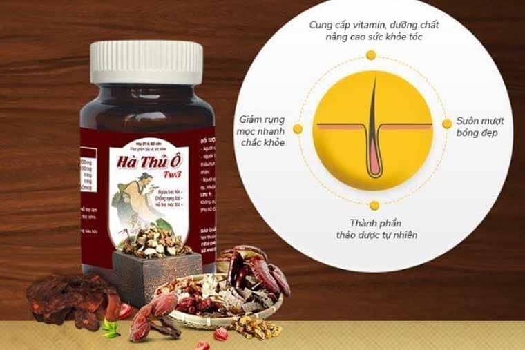 Thuốc trị rụng tóc Hà Thủ Ô TW3