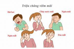 Triệu chứng viêm mũi vân mạch