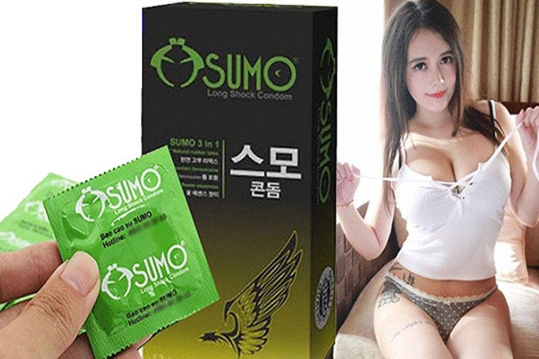 Bao cao su sumo 3 in 1