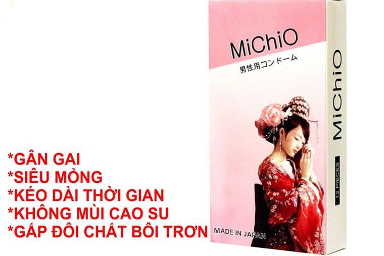 Bao cao su michio hiện được bán với mức giá 100.000/ 1 hộp 12 chiếc