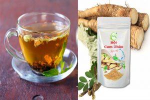 Hình ảnh bột cam thảo và trà cam thảo