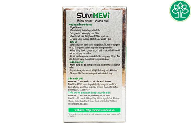Hướng dẫn sử dụng thuốc Sumhevi