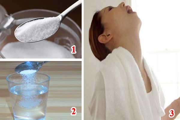 Súc miệng với nước muối hằng ngày giúp giảm nhanh các triệu chứng đau họng