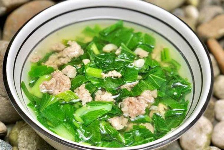 Chữa xuất tinh sớm với gừng nấu canh rau cải rất an toàn, cung cấp nhiều vitamin