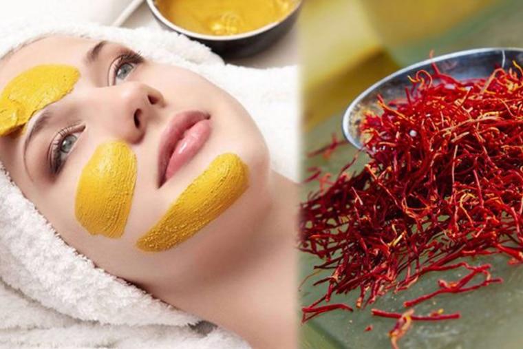 Saffron có tác dụng giảm sắc tố, làm sáng da, đặc biệt là vùng da mặt và quầng thâm dưới mi mắt, cũng như làm mờ sẹo, vết thâm.