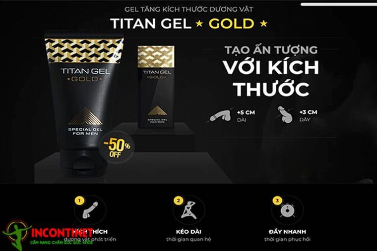 Gel Titan Gold có tác dụng ngay trong tuần đầu sử dụng
