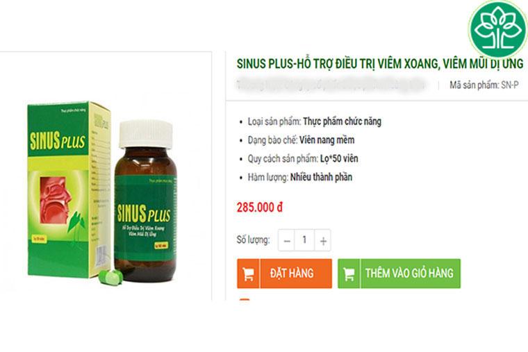 Giá tham khảo của Sinus Plus