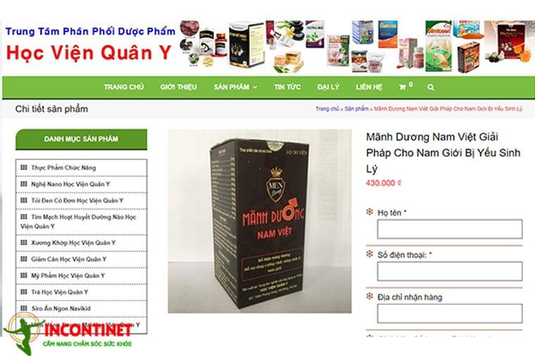 Giá thuốc MDNV Việt