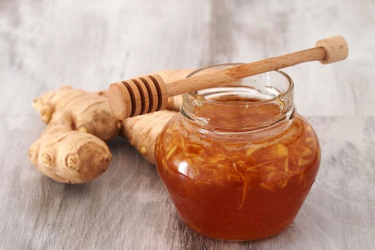Cách trị viêm amidan bằng mật ong và gừng