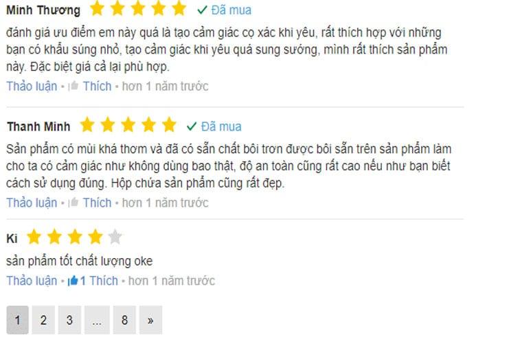 review bao cao su durex kingtex từ người dùng