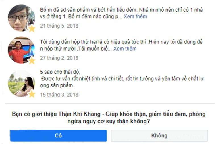 Review của người dùng về TKK