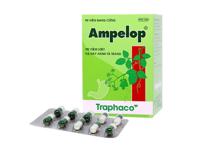 Ampelop là thuốc điều trị đau dạ dày được nghiên cứu và sản xuất bởi công ty cổ phần dược phẩm traphaco