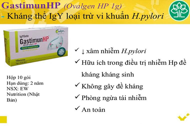 GastimunHp có thành phần chính được chiết xuất từ lòng đỏ trứng gà