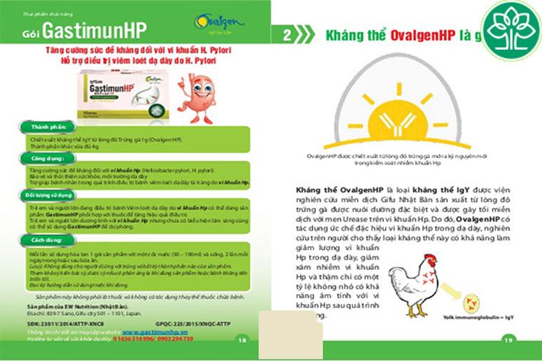 Sản phẩm GastimunHp nên sử dụng 2 gói/ 1 lần/ ngày sau bữa ăn hoặc trong khi ăn