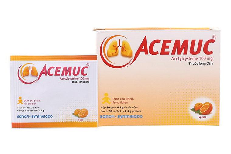 Thuốc ho Acemuc 100mg cho bé