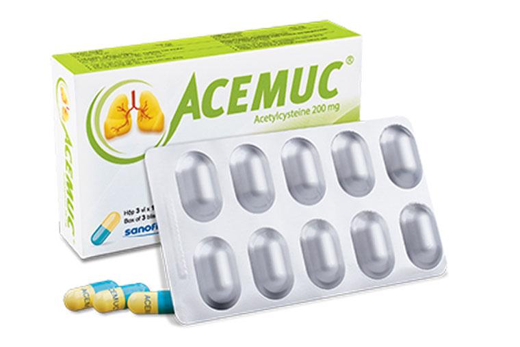 Thuốc ho Acemuc dạng viên nang