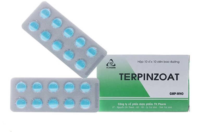 Thuốc ho Terpinzoat dạng viên bao đường